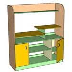 Шкафчики для книг и игрушек