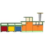 Модульная группа Паровозик - мебель для детских садов